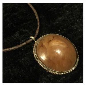 Vintage Large Circle Pendant Necklace